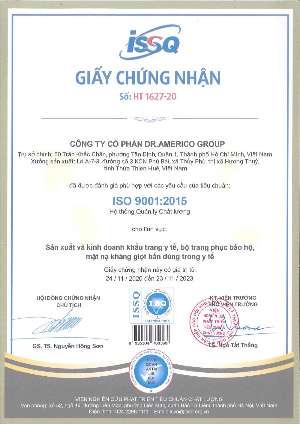 2. ISO 9001 DR. AMERICO THUA THIEN HUE PROVINCE 1