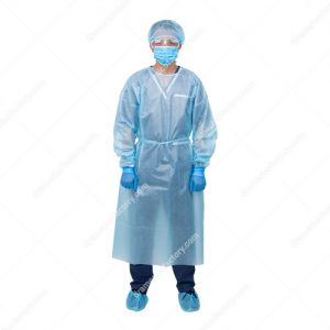Ame Disposable Isolation gown knitted cuffs 1