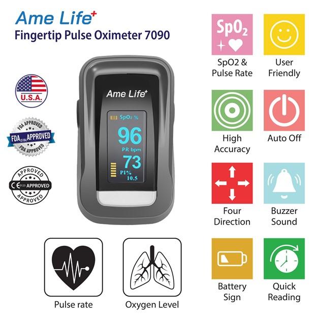 Máy đo nồng độ oxy trong máu SpO2 Ame Life 7090